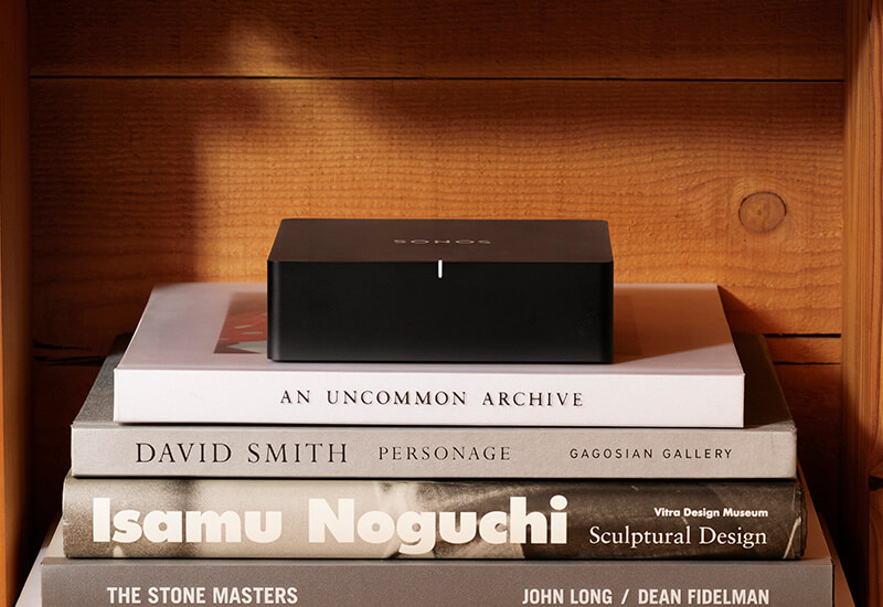 The Port is your gateway into wirelessly streaming turntable, CD and other HiFi onto your Sonos System