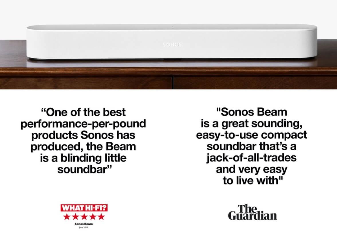 Sonos Beam - enhance your TV audio