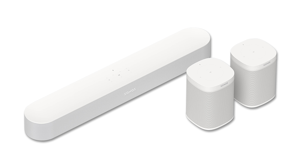 Sonos Beam and 2x Sonos Ones
