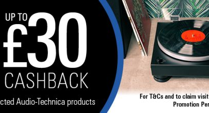 Audio-Technica Promotion: Up to £30 Cashback on Selected Turntables & Headphones