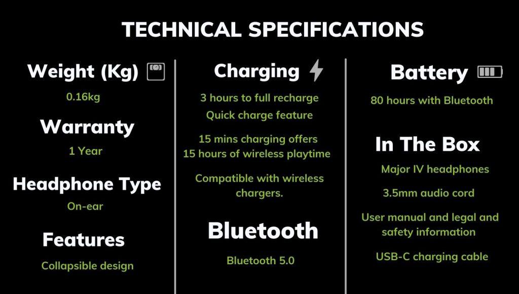 Marshall-Major-IV-Tech-Spec