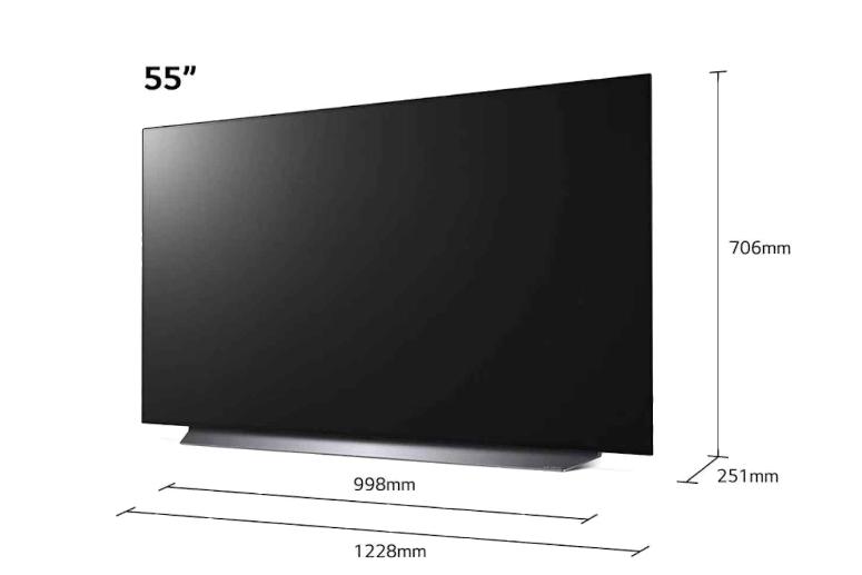LG C1 55 Size