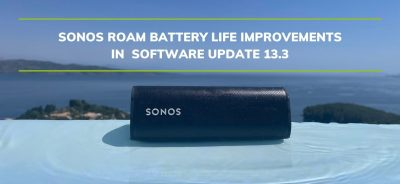 Sonos Roam battery life improvements in Software Update 13.3